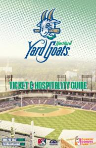 TICKET & HOSPITALITY GUIDE