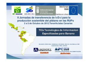 TICs Tecnologias de Informacion Especilizadas para Banano