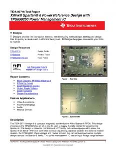 TIDA Test Report Xilinx Spartan 6 Power Reference Design with TPS Power Management IC