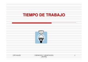 TIEMPO DE TRABAJO LABORAL
