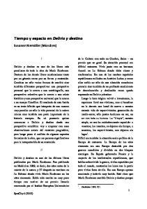 Tiempo y espacio en Delirio y destino