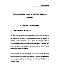 TIENDA CERAMICA PEDRO DE HEREDIA MANCESA- CORONA