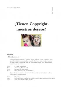 Tienen Copyright nuestros deseos?