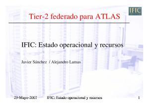 Tier 2 federado para ATLAS