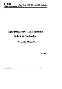 Tiger Series MINI- IDE Flash Disk Industrial Application