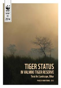 TIGER STATUS IN VALMIKI TIGER RESERVE