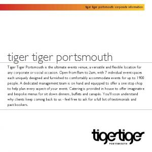 tiger tiger portsmouth