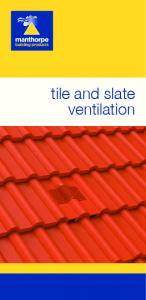 tile and slate ventilation