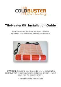 Tile Heater Kit Installation Guide