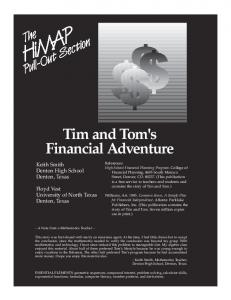 Tim and Tom's Financial Adventure