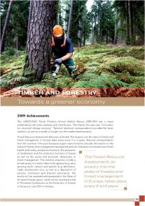 TIMBER AND FORESTRY. Towards a greener economy