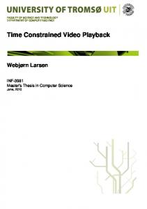 Time Constrained Video Playback