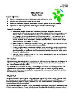 Time for Tea! Leader Guide