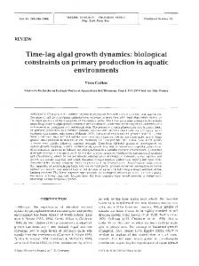 Time-lag algal growth dynamics: biological constraints on primary production in aquatic environments
