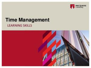 Time Management LEARNING SKILLS