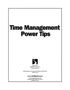 Time Management Power Tips