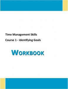 Time Management Skills Course 1 - Identifying Goals