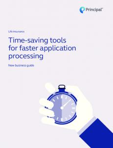 Time-saving tools for faster application processing