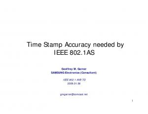 Time Stamp Accuracy needed by IEEE 802.1AS