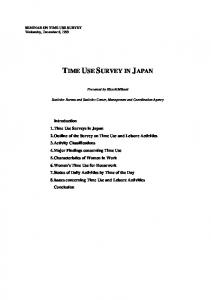 TIME USE SURVEY IN JAPAN