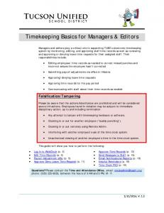 Timekeeping Basics for Managers & Editors