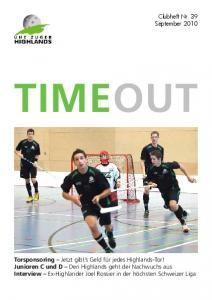 TIMEOUT. Clubheft Nr. 39 September 2010