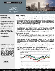 Timeshare Market Update