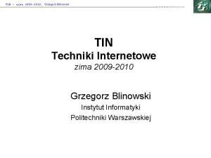 TIN Techniki Internetowe zima