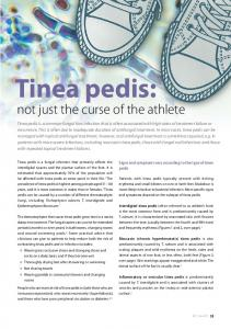 Tinea pedis: not just the curse of the athlete