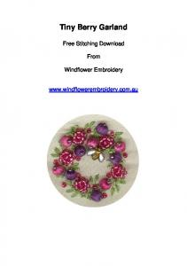Tiny Berry Garland. Free Stitching Download. From. Windflower Embroidery
