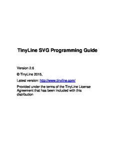 TinyLine SVG Programming Guide
