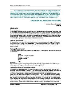TIPOLOGIA DEL ACERO ESTRUCTURAL