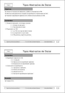 Tipos Abstractos de Datos