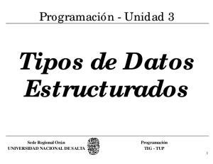 Tipos de Datos Estructurados