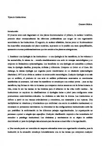 Tipos de Instituciones. Gustavo Melera