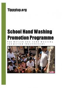 Tippytap.org. School Hand Washing Promotion Programme