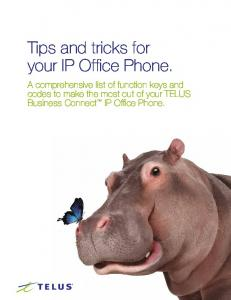 Tips and tricks for your IP Office Phone