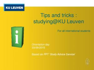 Tips and tricks : Leuven