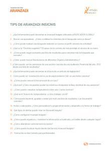 TIPS DE ARANZADI INSIGNIS