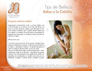 Tips de Belleza Adios a la Celulitis