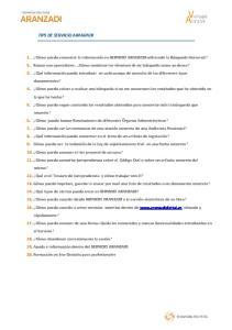 TIPS DE SERVICIO ARANZADI
