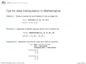 Tips for data manipulation in Mathematica
