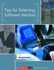 Tips for Selecting Software Vendors