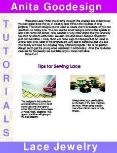 Tips for Sewing Lace