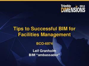 Tips to Successful BIM for Facilities Management