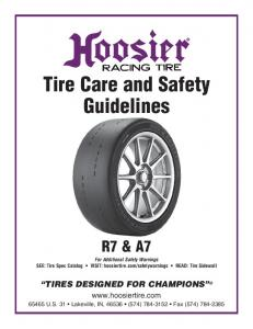Tire Care and Safety Guidelines