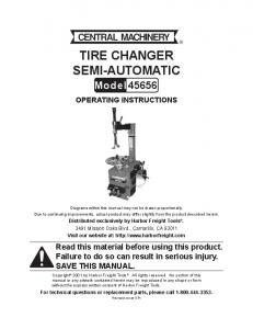 TIRE CHANGER SEMI-AUTOMATIC