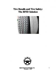 Tire Recalls and Tire Safety: The RFID Solution