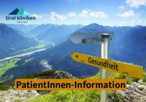 tirol kliniken hall in tirol PatientInnen-Information
