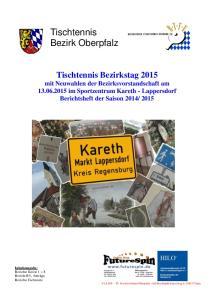 Tischtennis Bezirk Oberpfalz